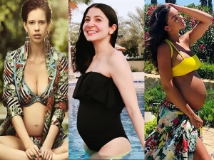 Actress Anushka Sharma And Other Actress Flaunt Their Baby Bumps In Bikini During Pregnancy