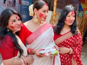 Why Bengali Women Wear White Saree With Red Border On Durga Puja Ashtami
