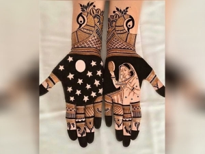How To Dark Mehndi Designs On Hand In Karwa Chauth