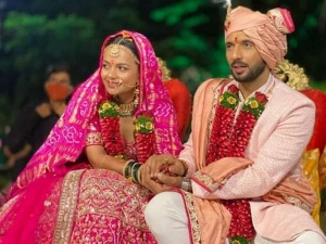 Check Out Puneet Pathak And Nidhi Singh Wedding Look