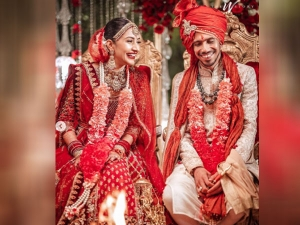 Cricketer Yuzvendra Chahal Married Dhanashree Verma See Wedding Outfit