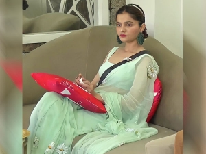 Bigg Boss 14 Contestant Rubina Dilaik Look Gorgeous In Aqua Green Saree
