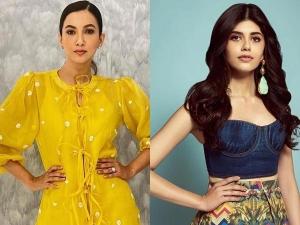 Gauhar Khan And Sanjana Sanghi Party Outfit