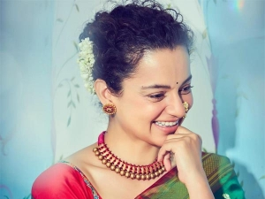 Kangana Ranaut Ethnic Look In Green Paithani Silk Sare
