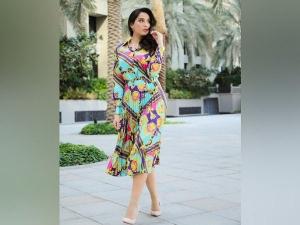 Nora Fatehi Look Beautiful In Colourful Co Ord Set