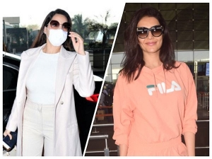 Nora Fatehi And Karishma Tanna Stylish Outfit Look At The Airport