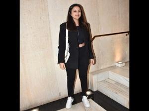 Parineeti Chopra Looks Stunning In Black Pant Suit