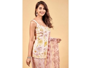 Pooja Hegde Look Beautiful In Pink Traditional Outfit For An Event
