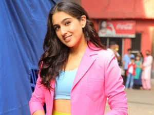 Sara Ali Khan In Colourful Outfit At The Filmcity In Mumbai