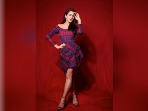 Sara Ali Khan Purple And Red Dress Look Is Ideal For Winter Parties