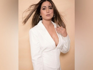 Hina Khan Looks Stunning In White Classy Dress