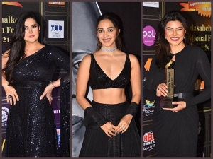 Sushmita Sen Kiara Advani And Zareen Khan Look Stunning In Black Dress
