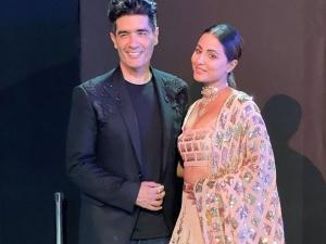 Hina Khan In Manish Malhotra Pastel Lehenga On Lakme Fashion Week