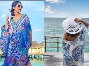 Hina Khan Stylish Bikini Look For Vacation