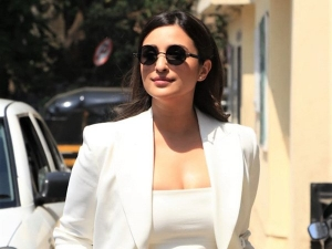 Parineeti Chopra Wear White Pant Suit For Saina Trailer Launch Event