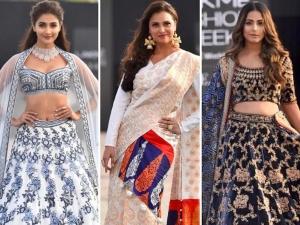 Pooja Hegde Lara Dutta And Hina Khan More Play Showstopper On Lakme Fashion Week