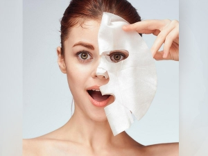 Homemade Diy Facial Sheet Mask For Glowing Skin In Hindi