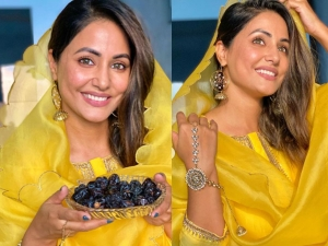 Hina Khan Wishes Fans Ramadan Mubarak And Looks Beautiful In Yellow Suit