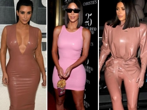 Kim Kardashian Flaunts Her Style In Latex Outfit