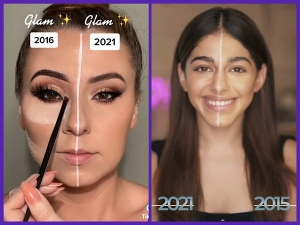 Best Videos From The 2016 Vs 2021 Makeup Challenge On The Internet