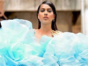 Nia Sharma Flaunts Dramatic Blue Eye Makeup Looks