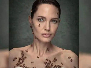 Angelina Jolie Photoshoot With Bees Video Goes Viral On Internet