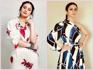 Rasika Dugal Looks Beautiful In Patterned Outfits