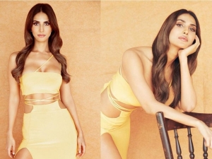 Vaani Kapoor Looks Sizzling In Yellow Dress