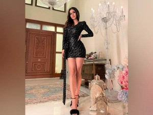 Mouni Roy Looks Stunning In Black Party Dress Have A Look
