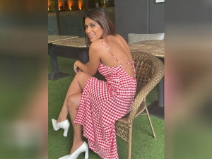 Nia Sharma Looks Bold And Gorgeous In Backless Dress