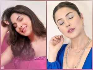 Shehnaz Gill Looks Stunning In Pastel Makeup