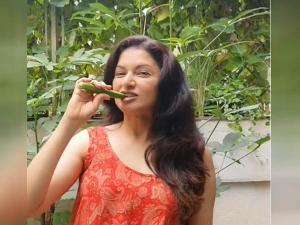 Bhagyashree Eats Raw Bhindi To Control Blood Sugar