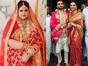 Plus Size Bride Wore Deepika Padukon Saree On Her Wedding