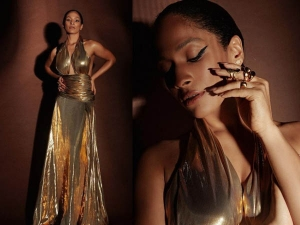 Masaba Gupta Looks Sizzling In Backless Golden Gown