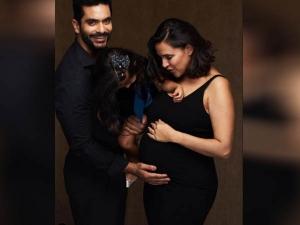 Neha Dhupia Announces Second Pregnancy In Black Bodycon Dress