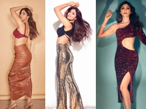 Shilpa Shetty Flaunts Her Glamorous Look In Shimmer And Latex Outfit