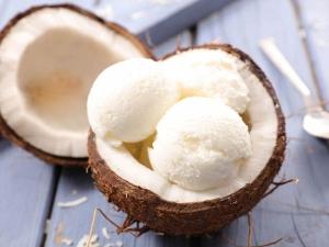 Easy Tender Coconut Ice Cream Recipe In Hindi