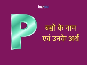 Hindu Baby Girl Names With Letter P And Meaning