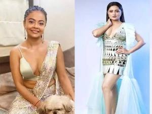 Devoleena Bhattacharjee In Shimmery Saree And Rashami Desai In Short Dress In Bigg Boss Ott