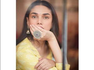 Aditi Rao Hydari Yellow And Blue Traditional Outfit Perfect For Ganesh Chaturthi