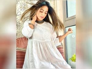 Hina Khan White Kurta Look Perfect For Ganesh Chaturthi