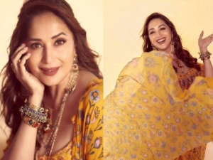 Madhuri Dixit Looks Gorgeous In A Yellow Outfit