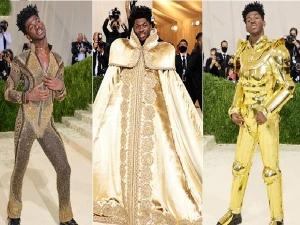Lil Nas X Met Gala 2021 Three Versace Looks