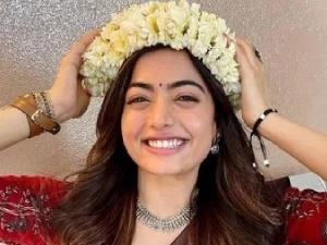 Rashmika Mandanna Looks Classy In Simple Cotton Saree