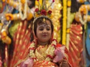 Navratri Kanya Pujan On Maha Ashtami 2021 Date Shubh Muhurat Puja Vidhi And Importance In Hindi