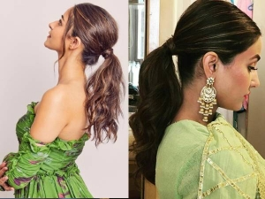 Stylish Ponytail Hairstyles For All Type Of Hair Length On Festive Season In Hindi