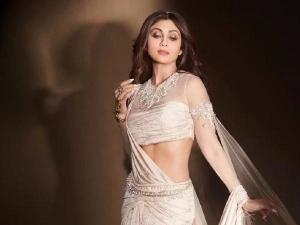 Shilpa Shetty Gave Western Twist In White Saree