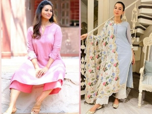 गौहर खान दिव्यांका त्रिपाठी और हिना खान की तरह ईद पर पहनें प्लाजो सेट